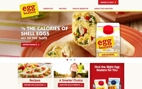 Screenshot of Home Page eggbeaters.com - A Healthy and Tasty Egg Substitute  | Egg Beaters - captured Jan. 2, 2017