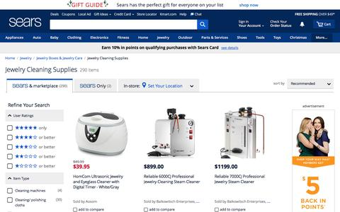Jewelry Cleaning Supplies - Sears
