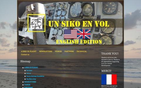 Screenshot of Site Map Page unsikoenvol.fr - Sitemap - Site de unsikoenvol ! - captured Oct. 9, 2014