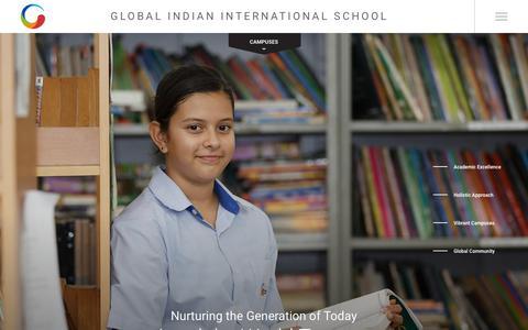 Screenshot of Home Page globalindianschool.org - Global Indian International School | Global Indian School | GIIS - captured Sept. 28, 2018