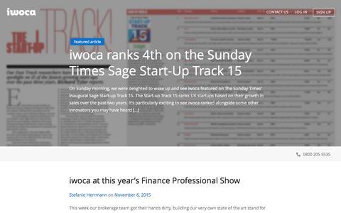 Screenshot of Blog iwoca.co.uk - iwoca - Blog - captured Dec. 3, 2015