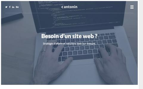 Screenshot of Home Page antonin.ca - Antonin | Besoin d'un site web ? - captured June 17, 2015