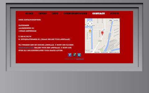 Screenshot of Contact Page kappermee.nl - Contact | Kappermee - captured Sept. 30, 2014