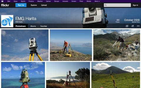 Screenshot of Flickr Page flickr.com - Flickr: EMG Harita's Photostream - captured Oct. 22, 2014