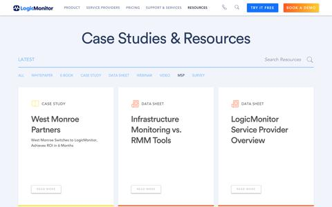 Screenshot of Case Studies Page logicmonitor.com - Get the Most out of Your Monitoring Platform from LogicMonitor - captured Dec. 12, 2019