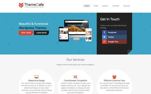Screenshot of Home Page theme-cafe.com - Premium, Responsive, Multi-Purpose Themes |Wordpress Theme - captured Sept. 24, 2014