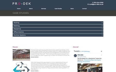 Screenshot of Case Studies Page pro-dek.co.uk - Client Case Studies | Pro-Dek  | PRO DEK - captured Sept. 29, 2018