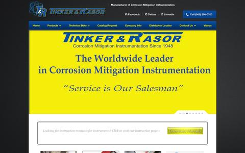 Screenshot of Home Page tinker-rasor.com - Tinker & Rasor - captured Oct. 1, 2014