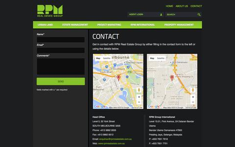 Screenshot of Contact Page rpmrealestate.com.au - Contact » RPM Real Estate Group - captured Feb. 17, 2016