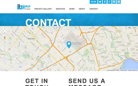 Screenshot of Contact Page builditbydesign.ca - Contact us your Toronto Contractor | BUILD IT By Design - captured Sept. 30, 2014