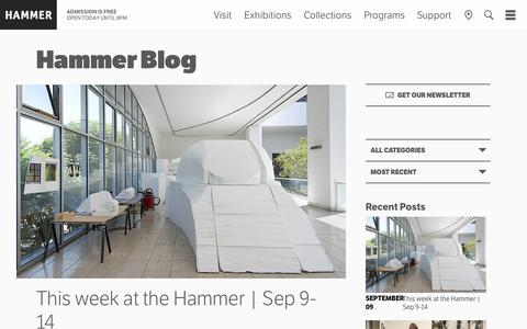 Screenshot of Blog ucla.edu - Blog - Hammer Museum - captured Sept. 12, 2014