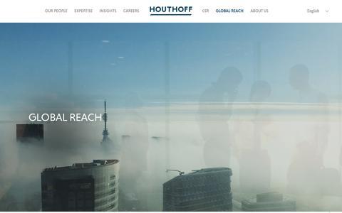 Screenshot of Contact Page houthoff.com - Global Reach - captured Dec. 8, 2017