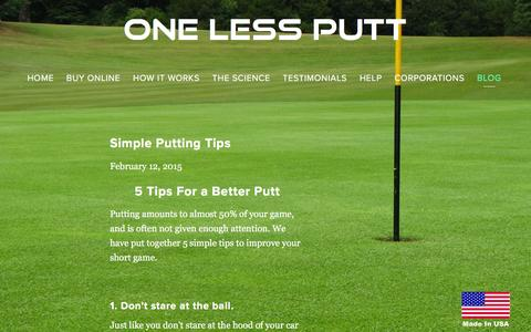 Screenshot of Blog one-less-putt.com - Blog — One Less Putt - captured Feb. 27, 2016