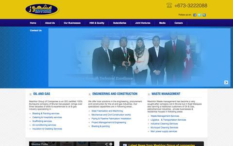 Screenshot of Home Page mashhor.com - Mashhor Group of Companies - captured Oct. 6, 2014