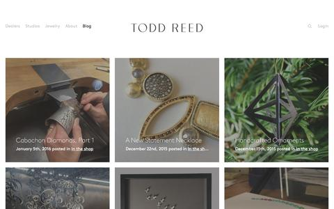Screenshot of Blog toddreed.com - Blog – Todd Reed – Raw Elegance - captured Jan. 7, 2016
