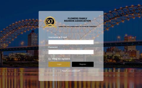 Screenshot of Locations Page flowersfamilyreunion.com - Login – Flowers Family Reunion Association - captured Oct. 10, 2018