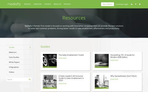 Screenshot of Case Studies Page mediafly.com - Resources   Mediafly - captured Jan. 28, 2020
