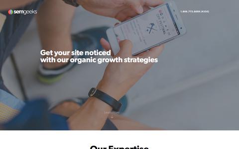 Screenshot of Landing Page semgeeks.com captured Sept. 20, 2017