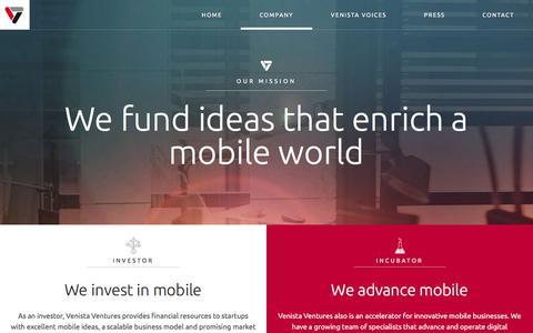 Screenshot of About Page venista-ventures.com - Venista - about us - captured Feb. 27, 2016