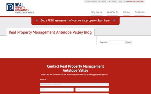 Screenshot of Blog rpmantelopevalley.com - Lancaster CA Property Management Blog   Real Property Management Antelope Valley - captured July 10, 2018