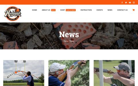 Screenshot of Press Page mishoot.com - News - Michigan Shooting Centers | Island Lake and Bald Mountain Shooting Ranges - captured Oct. 18, 2018