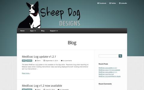 Screenshot of Blog sheepdogdesigns.com - Blog | Sheep Dog Designs - iPhone Apps - captured Oct. 1, 2014