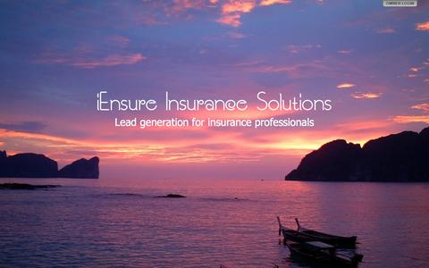 Screenshot of Home Page iensureinsurance.com - iEnsure Insurance Solutions - captured Feb. 10, 2016