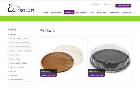 Screenshot of Products Page gosolut.com - Solut Loaf Pans | Bakable Disposable Loaf Pans | Paper Baking Pans - captured Oct. 19, 2018