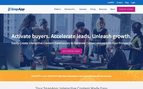 More Content. Better Results. | SnapApp Interactive Content Marketing Platform