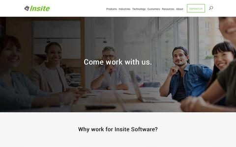 Screenshot of Jobs Page insitesoft.com - Careers | Insite Software - captured Nov. 14, 2018