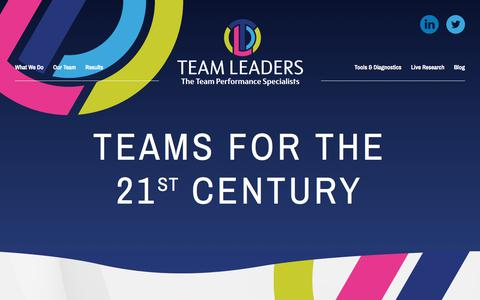 Screenshot of Home Page team-leaders.co.uk - Team Leaders | Team Leaders - captured Oct. 20, 2017