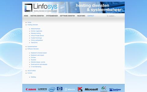 Screenshot of Site Map Page linfosys.nl - sitemap - captured Sept. 30, 2014