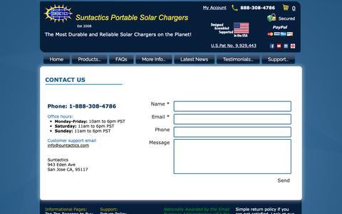 Screenshot of Contact Page suntactics.com - Contact Suntactics - captured Oct. 20, 2018