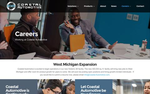 Screenshot of Jobs Page coastal-automotive.com - Careers | Coastal Automotive - captured Nov. 8, 2016