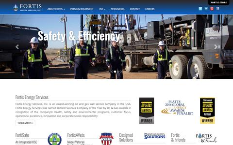 Screenshot of Home Page fortisenergyservices.com - Fortis Energy Services, Inc. - captured July 13, 2019