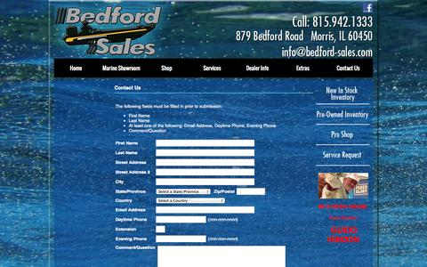 Screenshot of Contact Page bedford-sales.com - Contact Us - captured Oct. 29, 2014