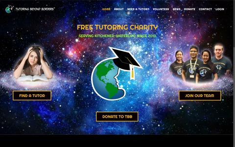 Screenshot of Home Page tutoring-beyond-borders.com - Home | Tutoring Beyond Borders | Free Tutoring for Gr. 9-12 - captured Oct. 20, 2018