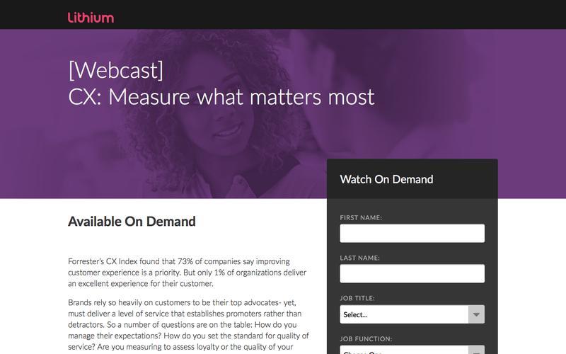 [Webcast] CX: Measure what matters most