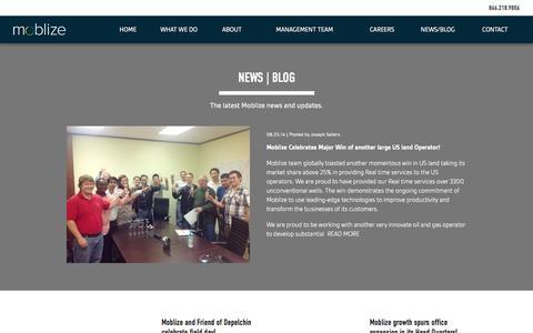 Screenshot of Press Page moblize.com - Moblize |   News | Blog - captured Oct. 26, 2014
