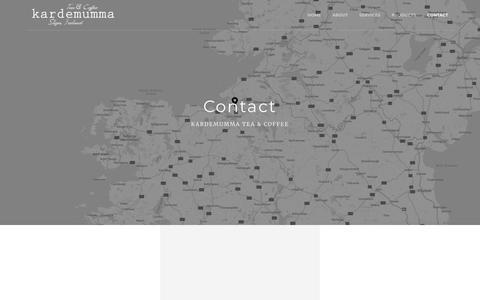 Screenshot of Contact Page teaandcoffee.ie - Kardemumma tea & coffee, loose leaf teas Sligo, Ireland. - captured Oct. 18, 2018
