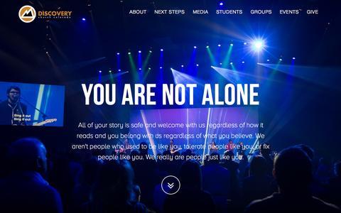 Screenshot of Home Page metooplace.com - Discovery Church Colorado - Colorado Springs, CO - captured Sept. 24, 2015