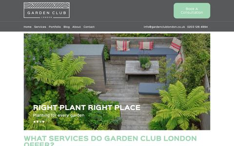 Screenshot of FAQ Page gardenclublondon.co.uk - Frequently Asked Questions - Garden Club London - captured Jan. 25, 2016