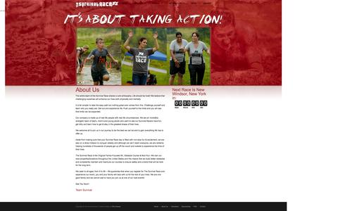 Screenshot of About Page thesurvivalrace.com - About Us | The Survival Race - captured Oct. 9, 2014