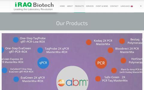 Screenshot of Products Page iraqbiotech.com - Iraq Biotech - Iraq Biotech for you - captured Oct. 15, 2017