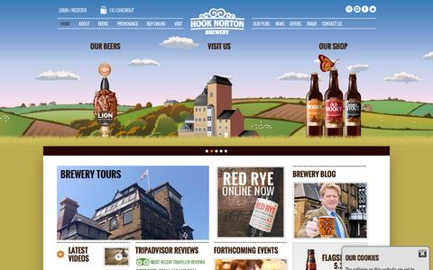 Screenshot of Home Page hooky.co.uk - Welcome to Hook Norton Brewery - captured Sept. 10, 2015