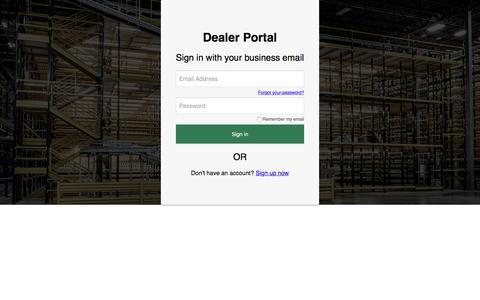Screenshot of Login Page b2clogin.com - Steel King Industries, Inc. - captured Aug. 16, 2019