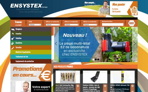 Screenshot of Home Page ensystex-solution-pro.com - Ensystex EUROPE Home page Solutions Anti-Nuisibles pour les professionnels - captured Jan. 26, 2015