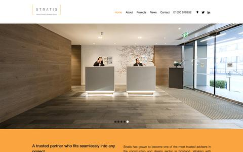 Screenshot of Home Page stratisuk.com - Home - captured May 26, 2017