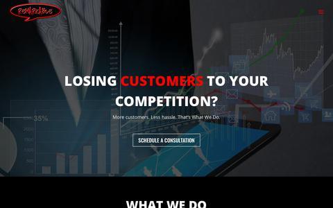 Screenshot of Home Page remarkablemarketers.com - Remarkable Marketers | (904) 337-5377 - captured Sept. 20, 2018