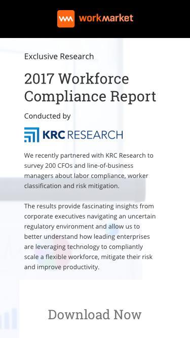 2017 Workforce Compliance Report | Work Market